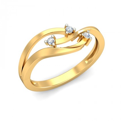 SAYLOR DIAMOND CASUAL RING in 18K Gold