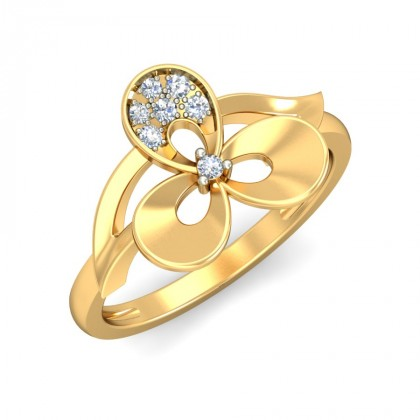 MUKTI DIAMOND COCKTAIL RING in 18K Gold