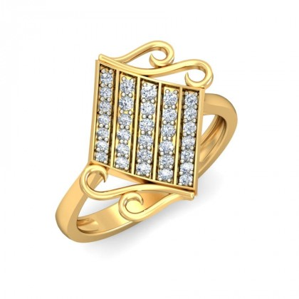 SOHALIA DIAMOND COCKTAIL RING in 18K Gold