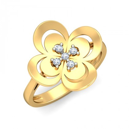 AYAH DIAMOND COCKTAIL RING in 18K Gold