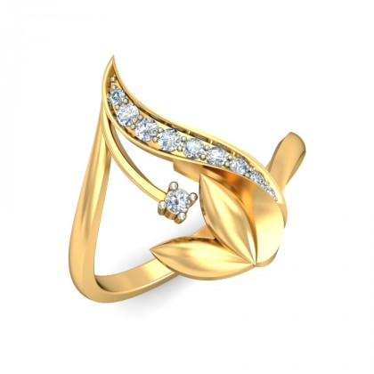 TRIPTI DIAMOND CASUAL RING in 18K Gold
