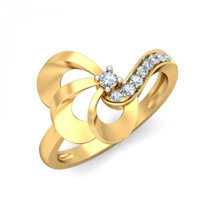 BALA DIAMOND CASUAL RING in 18K Gold