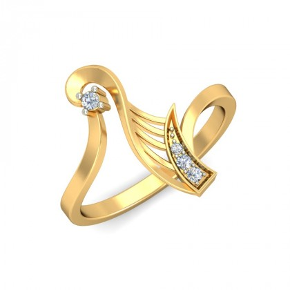 RAKSHA DIAMOND CASUAL RING in 18K Gold