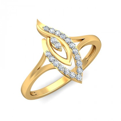 MENA DIAMOND COCKTAIL RING in 18K Gold