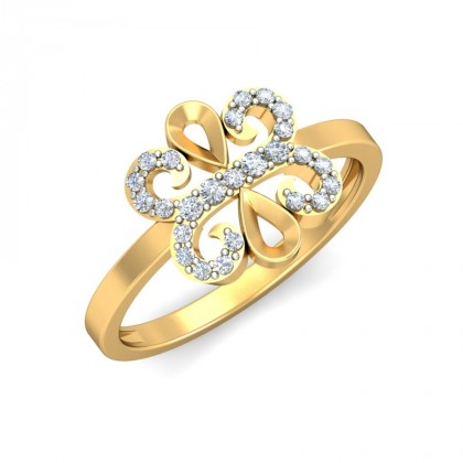 VEDA DIAMOND COCKTAIL RING in 18K Gold