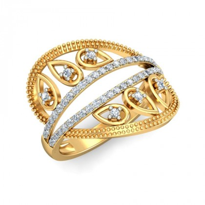 UDYATI DIAMOND COCKTAIL RING in 18K Gold