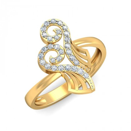 ALEXI DIAMOND COCKTAIL RING in 18K Gold