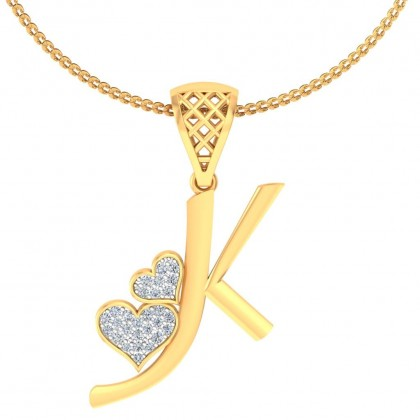 LALANA DIAMOND INITIALS PENDANT in 18K Gold