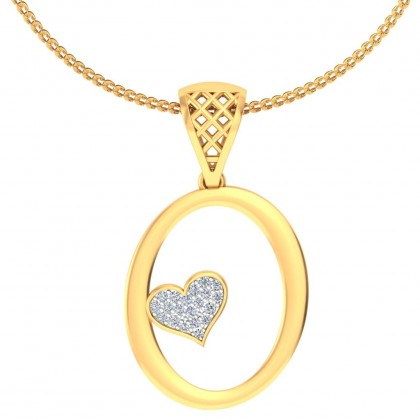 AVALON DIAMOND INITIALS PENDANT in 18K Gold