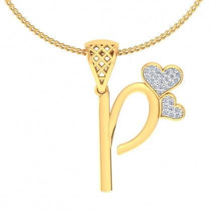 MAYA DIAMOND INITIALS PENDANT in 18K Gold