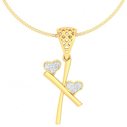 SUPREMA DIAMOND INITIALS PENDANT in 18K Gold