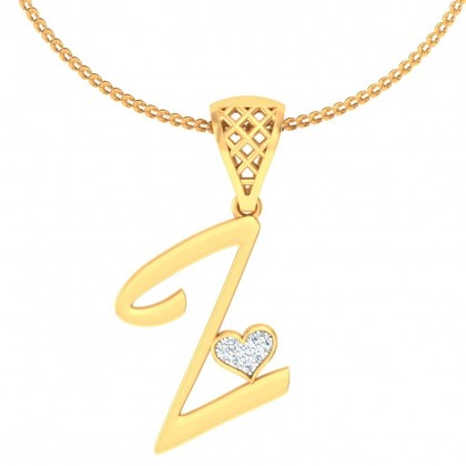 MRUNMAI DIAMOND INITIALS PENDANT in 18K Gold
