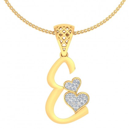 AMBIKA DIAMOND INITIALS PENDANT in 18K Gold