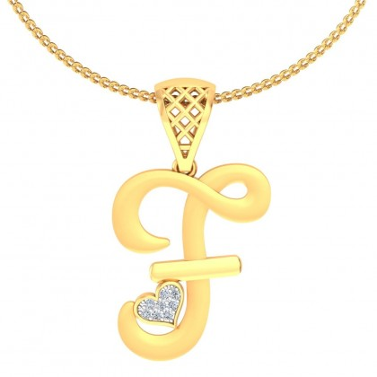 ANALI DIAMOND INITIALS PENDANT in 18K Gold