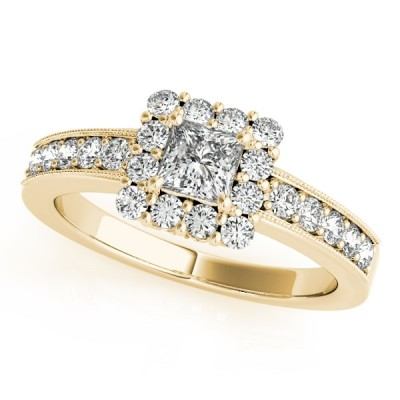 ALEXA ENGAGEMENT RING in 18K Yellow Gold