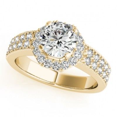 GEORGIA ENGAGEMENT RING in 18K Yellow Gold