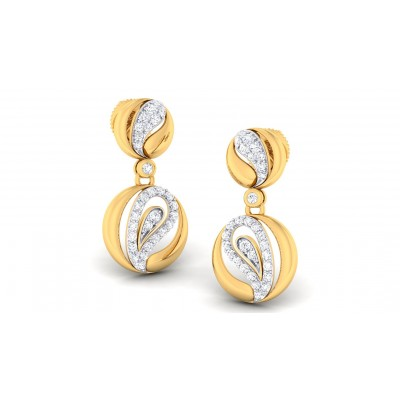 AKIRA DIAMOND DROPS EARRINGS in 18K Gold
