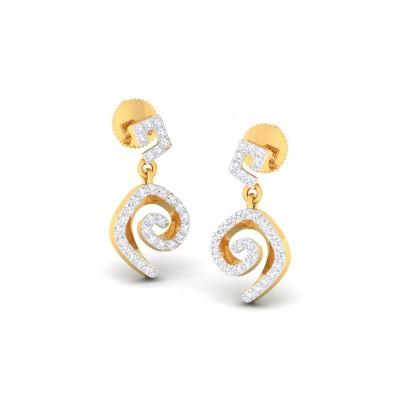 CALISTA DIAMOND DROPS EARRINGS in 18K Gold