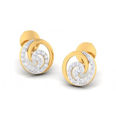 ZAYA DIAMOND STUDS EARRINGS in 18K Gold