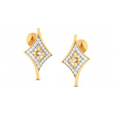 DEVANGI DIAMOND STUDS EARRINGS in 18K Gold