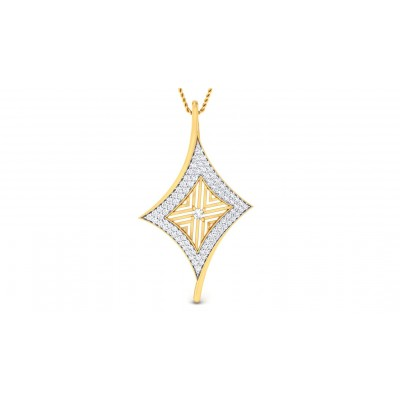 DAMARIS DIAMOND FASHION PENDANT in 18K Gold