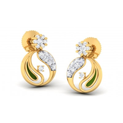 ASHNA DIAMOND DROPS EARRINGS in 18K Gold