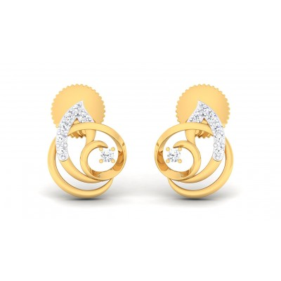 REKHA DIAMOND STUDS EARRINGS in 18K Gold