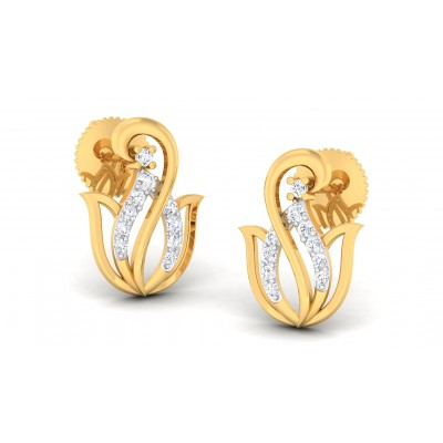 RAVEN DIAMOND STUDS EARRINGS in 18K Gold