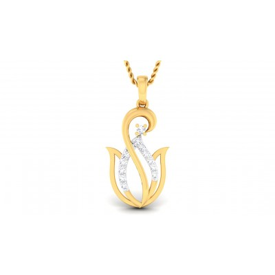 SARLA DIAMOND FLORAL PENDANT in 18K Gold