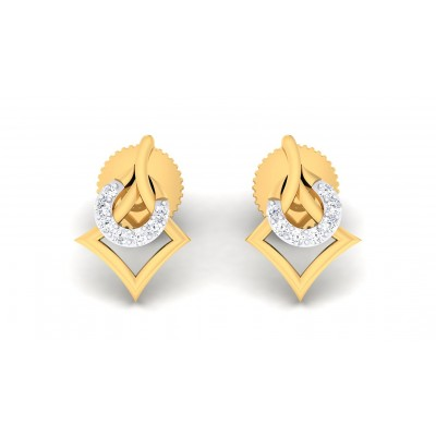 AGRATA DIAMOND STUDS EARRINGS in 18K Gold