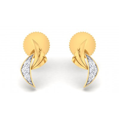 ANVI DIAMOND STUDS EARRINGS in 18K Gold