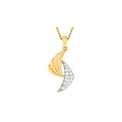 VIOLET DIAMOND FASHION PENDANT in 18K Gold