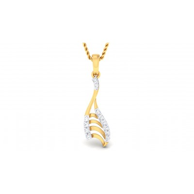 RESHAM DIAMOND FASHION PENDANT in 18K Gold