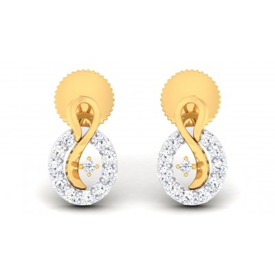 SUMEDHA DIAMOND STUDS EARRINGS in 18K Gold