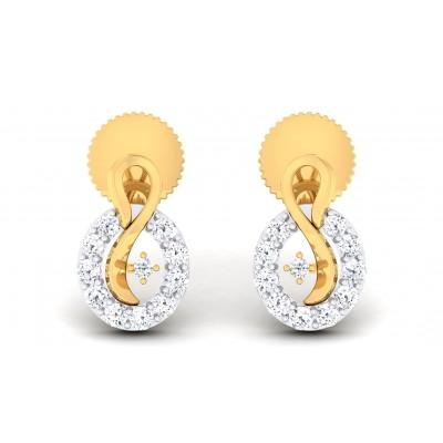 SUMEDHA DIAMOND STUDS EARRINGS in 18K Gold