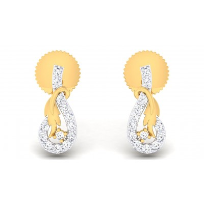 JOYCE DIAMOND STUDS EARRINGS in 18K Gold