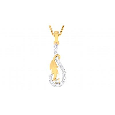 ERICKA DIAMOND FASHION PENDANT in 18K Gold
