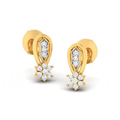 TANI DIAMOND DROPS EARRINGS in 18K Gold