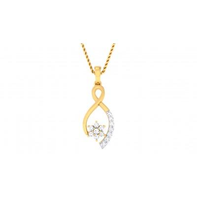 SAGUN DIAMOND FLORAL PENDANT in 18K Gold