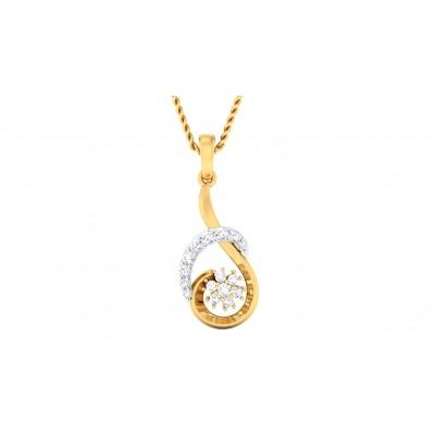 SARINA DIAMOND FLORAL PENDANT in 18K Gold