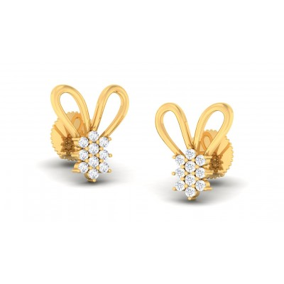 KHLOE DIAMOND STUDS EARRINGS in 18K Gold