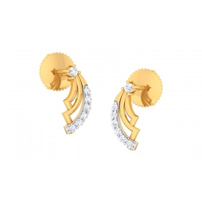 ANSHITA DIAMOND STUDS EARRINGS in 18K Gold