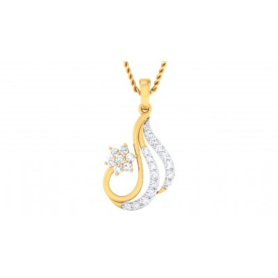 ZAYLA DIAMOND FASHION PENDANT in 18K Gold