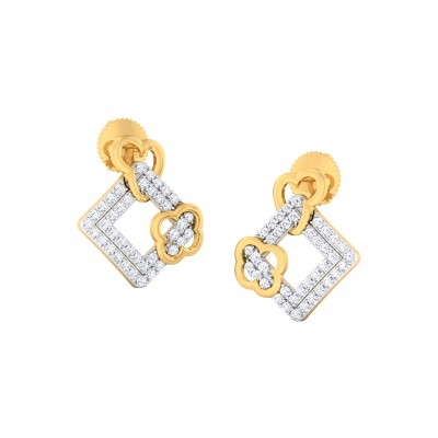 BHAWNA DIAMOND STUDS EARRINGS in 18K Gold