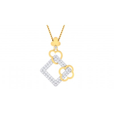 ZIVA DIAMOND FASHION PENDANT in 18K Gold