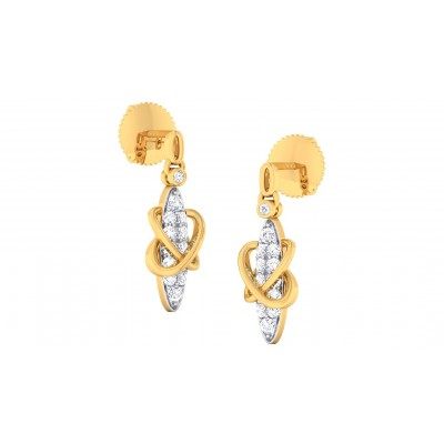 RAJIKA DIAMOND DROPS EARRINGS in 18K Gold
