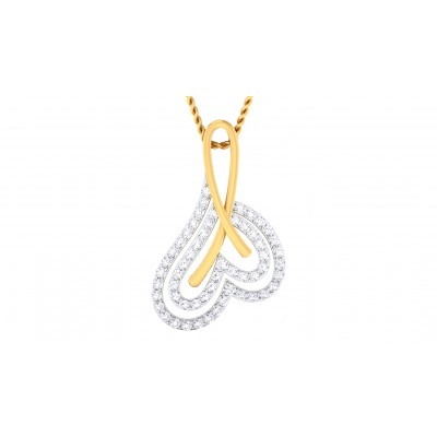 ISHANA DIAMOND HEARTS PENDANT in 18K Gold