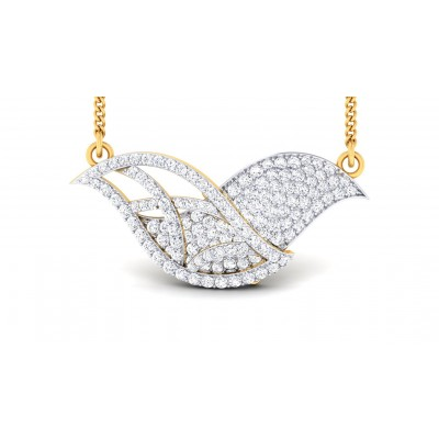 TALIYAH DIAMOND FLORAL PENDANT in 18K Gold