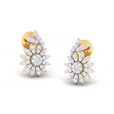 GANGA DIAMOND DROPS EARRINGS in 18K Gold