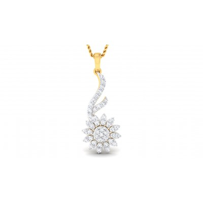 SURAMA DIAMOND FLORAL PENDANT in 18K Gold